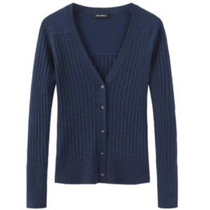 Fitted Ribbed Cardigan - 525 American